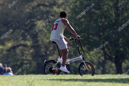 Josh Denzel working out in Primrose Hill