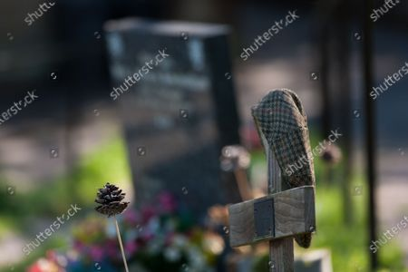 Stock Image of The graves of Bill Owen and Peter Sallis in St John's Church, Upperthong. The actors were known for playing 'Compo' and 'Clegg' in Last of the Summer Wine.