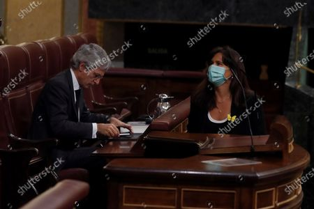 Editorial image of Spanish Government's plenary session at Lower Chamber, Madrid, Spain - 22 Apr 2020