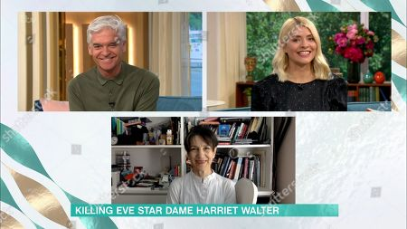 Holly Willoughby and Phillip Schofield and Dame Harriet Walter