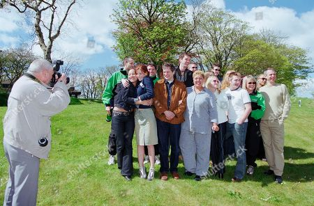 James Hooton, Tony Audenshaw, Mark Charnock, Karl Davies, Kate McGregor, Elspeth Brodie, Anthony Lewis, Vicky Binns, Mark Jardine, Cleveland Campbell, Danielle Henry, Amy Nuttall, John Middleton, Kay Purcell, Nicola Wheeler, Jason Hain, Dee Whitehead at Emmerdale charity golf event at unknown location.