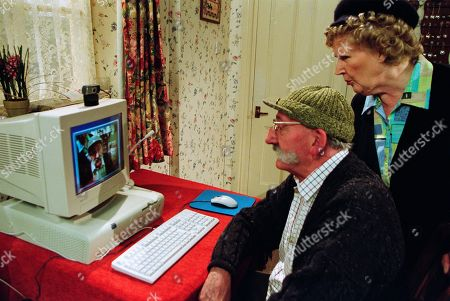 Ep 3180 Friday 17th May 2002  The Emmerdale web cam is up and running as Seth becomes the village's first presenter. Betty is wary of the new technology. With Betty Eagleton, as played by Paula Tilbrook ; Seth Armstrong, as played by Stan Richards.