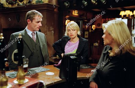 Ep 3176 Monday 13th May 2002  Louise is upset to hear that the Tates have shunned Ray's business, who skirts the subject when Louise questions the strange tension in the village, realising the truth is a little too close for comfort. With Ray Mullan, as played by Seamus Gubbins; Charity Tate, as played by Emma Atkins ; Louise Appleton, as played by Emily Symons.