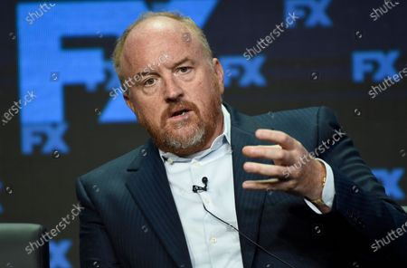 "Louis C.K., co-creator/writer/executive producer, participates in the ""Better Things"" panel during the FX Television Critics Association Summer Press Tour at the Beverly Hilton in Beverly Hills, Calif. Joe Biden's presidential campaign says it has refunded a $2,800 donation from Louis C.K., a comedian and writer whose career was derailed after five women accused him sexual misconduct"