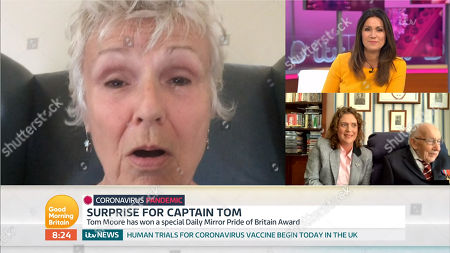 Julie Walters, Susanna Reid, Captain Tom Moore