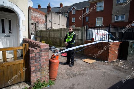 Editorial image of Police investigation, Cardiff, Wales, UK - 23 Apr 2020