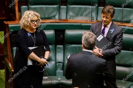 Stock Photo of The Attorney-General of Victoria, Jill Hennessy arrives for Question time in an emergency sitting to pass COVID-19 related legislation