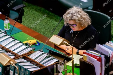 Editorial photo of Emergency COVID-19 Parliament Sitting, Victoria, Australia - 23 Apr 2020