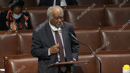 In this image from video, Rep. Danny Davis, D-Ill., speaks on the floor of the House of Representatives at the U.S. Capitol in Washington