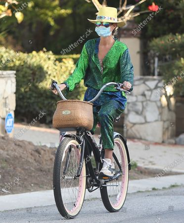Editorial photo of Laeticia Hallyday out and about, Los Angeles, USA - 21 Apr 2020