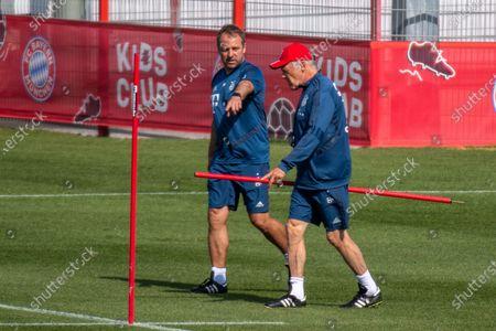 head coach Hansi Flick (Bayern), assistant coach Hermann Gerland (Bayern)