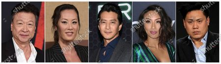 This combination photo shows Asian American actors, from left, Tzi Ma, Olivia Cheng, Will Yun Lee, Jeannie Mai and Jon M. Chu. As people across the world shelter in place due to the breakout of COVID-19, some people of Asian descent are worried about what happens when they have to leave the safety of their homes, due to the rise in hate crimes due to the growth of the virus _ which is believed to have originated in Wuhan, China