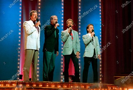 The Statler Brothers, from left, Harold Reid, Don Reid, Phil Balsley and Jimmy Fortune perform at the 23rd annual Music City News Country Awards show in Nashville, Tenn. Harold Reid, who sang bass for the Grammy-winning country group the Statler Brothers, died, after a long battle with kidney failure. He was 80