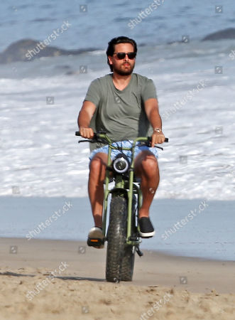 Stock Photo of Scott Disick on his electric bike