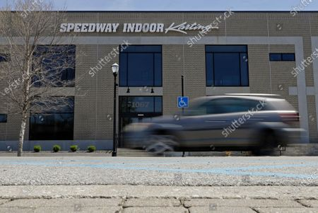 Car drives past Speedway Indoor Karting, in Indianapolis. Former IndyCar driver Sarah Fisher found the perfect spot for her new venture, Speedway Indoor Karting, just a short stroll from Indianapolis Motor Speedway which is closed due to the coronavirus pandemic