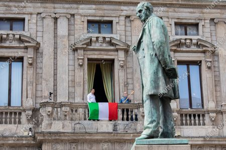 Editorial photo of Milan Mayor sings popular protest song Bella ciao to mark Italy's 75th Liberation Day, Milan, Italy - 25 Apr 2020