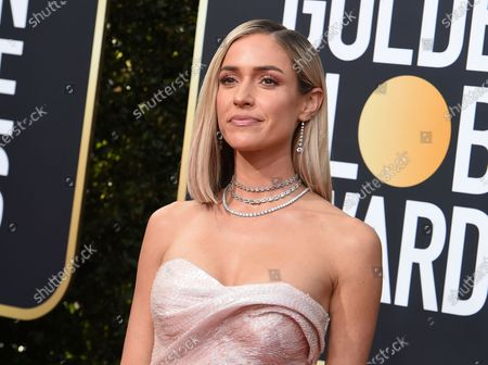 Stock Image of Kristin Cavallari arrives at the 77th annual Golden Globe Awards at the Beverly Hilton Hotel in Beverly Hills, Calif. Reality TV star Cavallari and former Chicago Bears quarterback Jay Cutler are getting divorced. Cavallari announced, in an Instagram post that the couple are breaking up after after seven years of marriage and a decade together