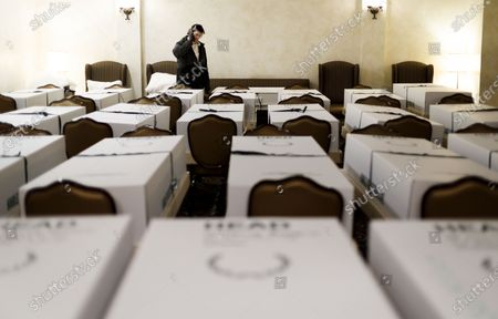 Editorial picture of Funeral Home in New York's Elmurst Neighborhood Deals With Coronavirus, Queens, USA - 26 Apr 2020