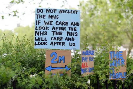 Sign Paintings for the NHS, by artist Peter Liversidge, Roman Road, East London.