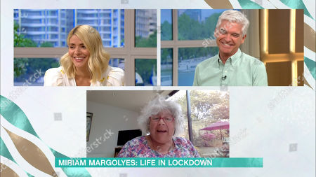 Holly Willoughby and Phillip Schofield and Miriam Margolyes
