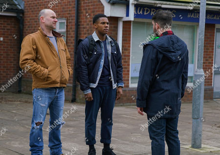 Ep 10062 Friday 15th May 2020 As Tim Metcalfe, as played by Joe Duttine, chats to James Bailey, as played by Nathan Graham, about his last match, a County fan approaches and launches a tirade of homophobic abuse at James. Tim steps in and restrains James.