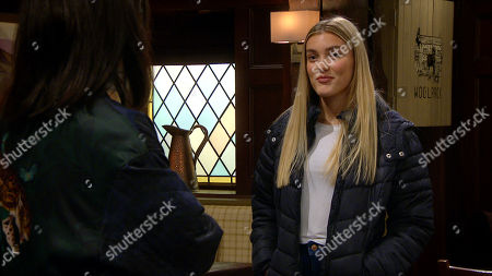 Ep 8783 Wednesday 29th April 2020 Leanna Cavanagh, as played by Mimi Slinger, is pleased to later cause a further rift between Leyla Harding, as played by Rokhsaneh Ghawam-Shahidi, and Liam Cavanagh.