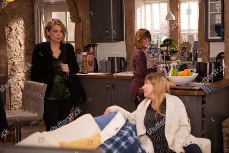 Ep 8789 & 8790 Wednesday 13th May 2020 Rhona Goskirk, as played by Zoe Henry, brings over Johnny's guardianship documents leaving Charity Dingle, as played by Emma Atkins, hurt and she later snaps, After a blazing row, Vanessa Woodfield, as played by Michelle Hardwick, and Charity are still upset with each other.