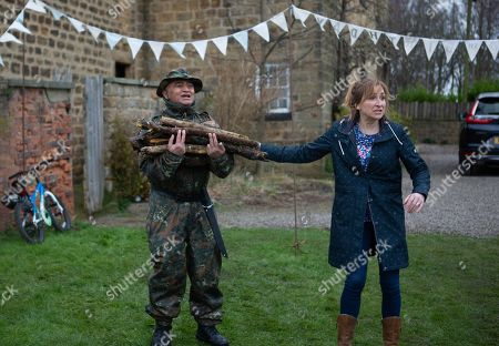 Ep 8788 Monday 11th May 2020 Laurel Thomas, as played by Charlotte Bellamy, cuts Dottie out of the burning tent and Archie and Arthur are in serious trouble as Dotty is taken to the doctor's surgery. With Rishi Sharma, as played by Bhasker Patel.