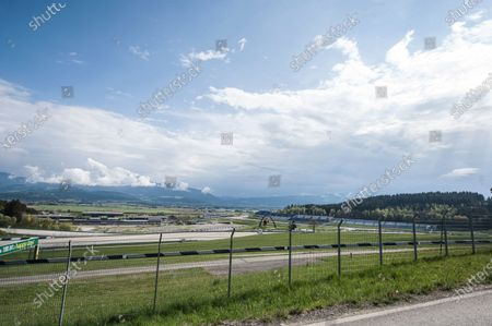 A general view of the Red Bull Ring circuit in Spielberg, Austria, 27 April 2020. Formula 1 Group CEO Chase Carey posted a statement on the Formula 1 website on 27 April 2020 saying that the series is targeting to start the season by the beginning of July with the Austrian Grand Prix in Spielberg on 3-5 July being the first race. Due to the ongoing pandemic of the COVID-19 disease caused by the SARS-CoV-2 coronavirus the races are planned to take place without spectators.