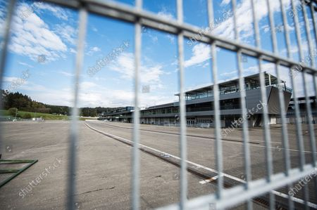 A general view of the garages of the Red Bull Ring circuit in Spielberg, Austria, 27 April 2020. Formula 1 Group CEO Chase Carey posted a statement on the Formula 1 website on 27 April 2020 saying that the series is targeting to start the season by the beginning of July with the Austrian Grand Prix in Spielberg on 3-5 July being the first race. Due to the ongoing pandemic of the COVID-19 disease caused by the SARS-CoV-2 coronavirus the races are planned to take place without spectators.