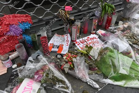 A memorial for Jimmy Webb outside the I Need More Rock and Roll store in New York. Jimmy Webb, longtime manager of the iconic East Village clothing store Trash and Vaudeville and notable fixture in the downtown New York City rock scene, passed away at the age of 62.