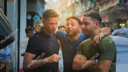Scott Thomas, Ryan Thomas and Adam Thomas eating Paan.