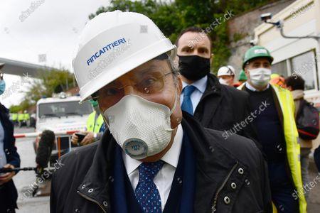 Editorial photo of Construction site of the new Genoa motorway bridge, Italy - 28 Apr 2020