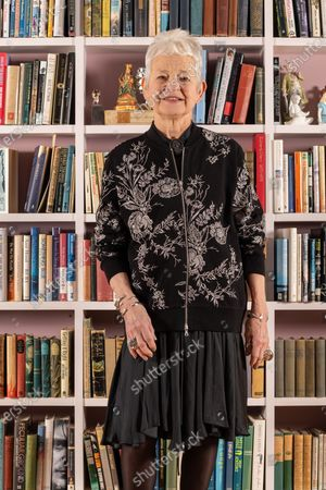 Jacqueline Wilson at home in Alfriston, East Sussex UK