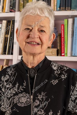 Stock Image of Jacqueline Wilson at home in Alfriston, East Sussex UK
