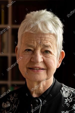 Stock Picture of Jacqueline Wilson at home in Alfriston, East Sussex UK