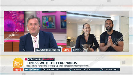 Stock Image of Piers Morgan and Rio Ferdinand and Kate Ferdinand