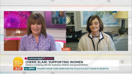 Lorraine Kelly and Cherie Blair