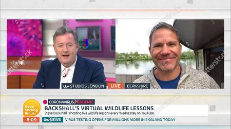 Piers Morgan and Steve Backshall