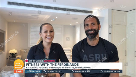 Stock Picture of Rio Ferdinand and Kate Ferdinand