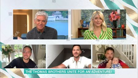 Holly Willoughby and Phillip Schofield and Ryan Thomas and Scott Thomas and Adam Thomas