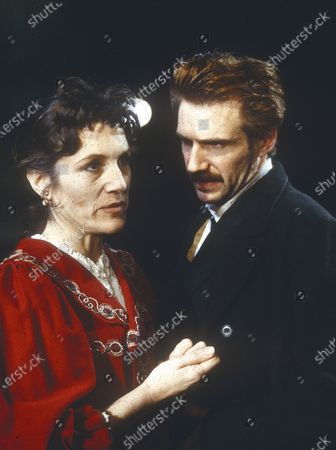 Stock Image of Harriet Walters Ralph Fiennes