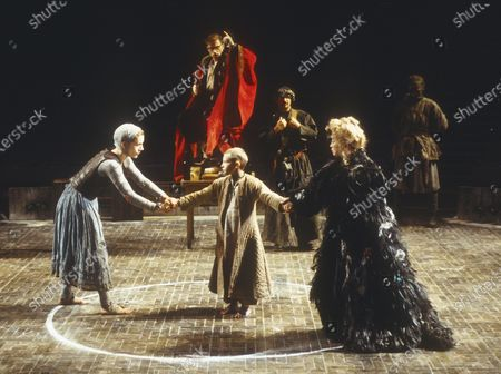 Editorial photo of 'The Caucasian Chalk Circle' Play performed in the Olivier Theatre, National Theatre, London, UK 1997 - 30 Apr 2020