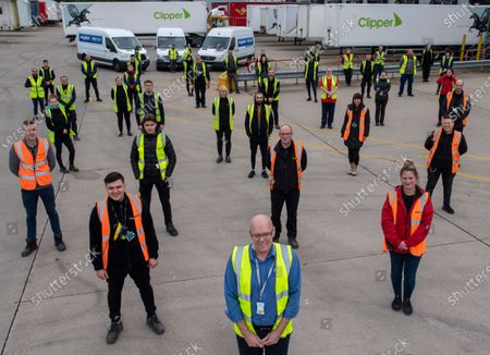The warehouse staff at NHS warehouse where the Daily Mail PPE is delivered to and dispatched from in the Midlands.