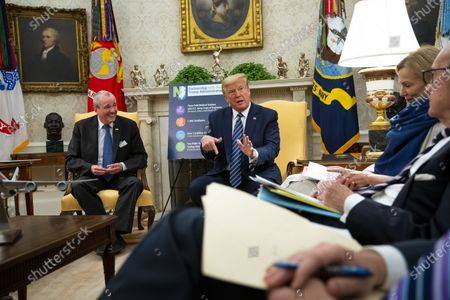 Editorial image of Trump Meets with Governor Phil Murphy of New Jersey, Washington, District of Columbia, USA - 30 Apr 2020