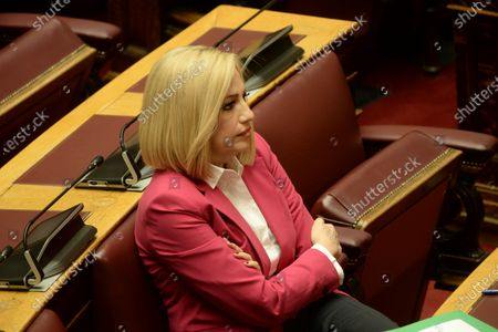 Fofi Gennimata, President of KINAL, during the session of Hellenic Parliament.