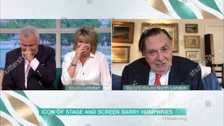 Ruth Langsford and Eamonn Holmes and Barry Humphries