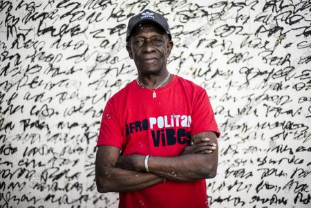 Stock Image of Pioneering African drummer Tony Allen, whose influential career spanned decades and continents, poses for a portrait ahead of a concert with Senegalese musician Cheikh Lo in Dakar, Senegal. Tony Allen, the driver of the Afrobeat sound who formed a partnership with guitarist and composer Fela Kuti, died of aortic failure at the Pompidou Hospital in Paris aged 79 on Thursday night, his manager Eric Trosset confirmed to The Associated Press on Friday, May 1, 2020