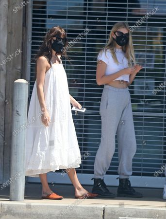 Dakota Johnson and Apple Martin out and about in a GT350 Mustang during quarantine