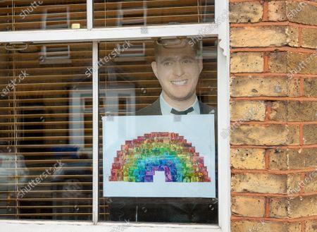 Editorial image of Coronavirus outbreak windows, Windsor, UK - 03 May 2020